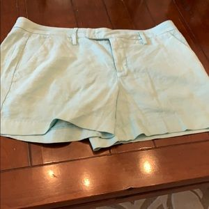 NWOT Level 99 linen blend shorts in mint green!